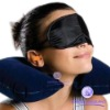 Travel Neck Air Cushion Pillow + eye mask + 2 Ear Plug