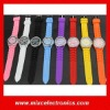 Wholesale Zebra Face Rhinestones Silicone Geneva Watch with 8 colors