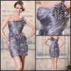 2012 Sexy Sheath One Shoudler Ruffled Short Woman Formal Cocktail Dresses