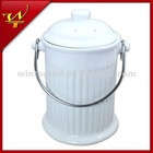 0.6 Gallon Ceramic Compost Pail