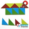 Magnetic Puzzle right angled isosceles triangle 16pcs/set