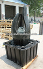 Artificial Park Stone Fountain Wth Glass Ball