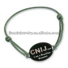 Promotional Satin cord charm bracelet