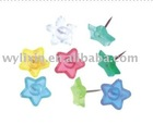 star-shaped- plastic push pins