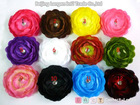 Promotion Camellia 12 color flower +clip+12 piece headband /lot