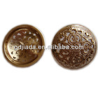 elegant metal coat button