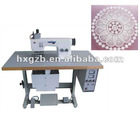 HX beautiful lace table cloth welding and cutting sewing machine