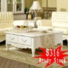 QW economical Luxurious hand-carved Square Coffee table