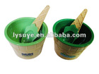 Plastic Ice Cream Bowl And Spoon Set