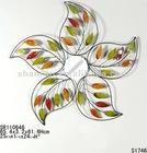 2012 New Metal Flower shape Wall Decor Mirror