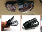 Car Vehicle Auto Visor Accessories Eye Sunglasses Glasses Card Pen Holder Clip