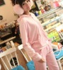 Sweetly Vogue Top Grade Long Sleeves Hooded Tracksuit Pink LH12090806-3
