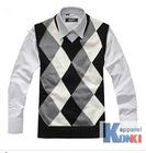 fashion mens cashmere vest/ good quality cashmere sleeveless