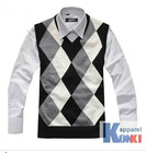 fashion mens cashmere vest/ good quality cashmere sleeveless