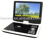 "9"" new model portable dvd player with USB ,CARD READER"