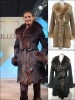 Fur jacket- Goat skin suede with dyed Raccon fur collar ELS-389