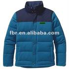 men's latest fashion outdoor grey goose down filled ski jacket