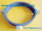Heavy duty galvanized steel pipe clamp fitting with rubber lined or without rubber lined