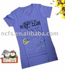 girls kids cotton tshirt printing, water base print with soft hand feel