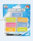 7 Pack Dys of The Week Magnets