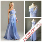 Ready To Ship US size2.4.6.8.10.12.14.16 Lavender One Shoulder Prom Dress 2013