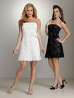 Beaded Lace Bodice with Flower Waistband Lace Bridesmaids Dresses