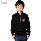 winter stylish clothing baby boys outerwear plain black coat for children