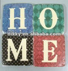 high quality heatproof cork coaster S/4, HOME design drink coaster wholesale, glass coaster low price
