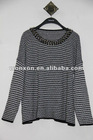 special decoration crew neck women knit oversized sweaters