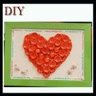 Handmade heart shape button craft