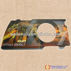 Computer Video Card Metal Stamping Panel, Four colours Printing Faceplate,Front Plate