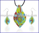 Murano glass jewelry set 141