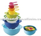 Eco-friendly 8 sets plastic colorful bowls