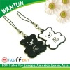 Custom bear mobilephone accessory strap
