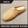 Fashionable indoor shoe cheap loafers sheepskin slipper