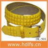 Fashion Yellow Glitter Belt