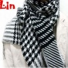 fashion men winter white with black kint cotton scarf