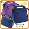newest stylish insulated neoprene handle lunch bag