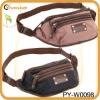 fashion waterproof waist bag with pu trim