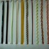 Curly sheolaces,wax thin shoelaces,shoelace made of cotton/polyester