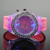 2012 fashion watch , colorful watch , silicone watch,colorful light