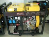 200A 6kw air cooled 4 stroke engine power electric diesel welding generator