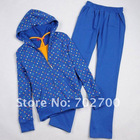 (3 in1) plus size fashion polka dot women sport suits