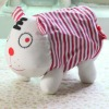 2012 fashion pink stripe tiger design cotton fabric toilet tissue cover