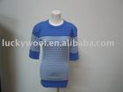 100% merino wool women fashion t-shirt