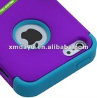 For Apple iPhone 5 Silicone IMPACT TUFF HYBRID Case Skin Phone Cover Purple Teal