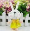 Rabbit keychain,cute rabbit keychain,mini keychain