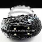 Coniefox elegant Ladies black evening bags B135