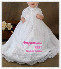 Boutique white shot sleeve appliqued infant toddler christmas dresses