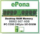 DDR2 667 4GB Desktop RAM Memory